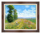 Claude Monet Meadow with Poplars Painting Reproduction Framed Picture Art Print