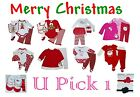 BABY GIRLS CHRISTMAS OUTFIT SET BODYSUIT SHIRTS PANTS KIDS CLOTHES HOLIDAY 1st