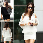 Fashion Womens Hollow Sexy Ladies Summer Casual Party Mini Dress 2 Sizes