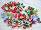 Handmade Dog grooming hair bows cat puppy pets Christmas gift Accessories c#3