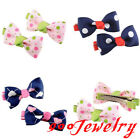 2pc Bowknot Dot Heart Allgator Clip Hairpin Child Student Hair Accessories
