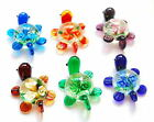 Xmas Gifts Inside Flower&Tortoise Pretty Lampwork Murano Pendants Glass Gifts