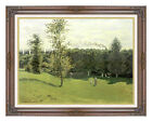 Framed Canvas Art Print Train in the Countryside by Claude Monet Painting Repro