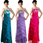SALE Crochet Embellished Wrap Layered Evening Formal Occasion Dress Prom Gown