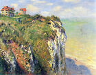 Canvas Giclee Art Print Cliffs near Dieppe by Claude Monet Painting Reproduction