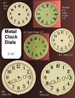 Ivory  Gold Finish Clock Dial Metal Face Parts Steampunk Art Supplies