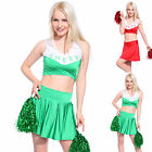 Sexy High School Cheer Girl Cheerleader Costume Crop Top + Pleated Skirt + Panty