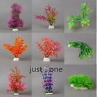 Fish Tank Aquarium Decoration Durable Plastic Colorful Artificial Water Plants