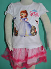 NEW Girl Sofia The First two pieces Top & Skirt sets sizes 1,2,3,4,5,6