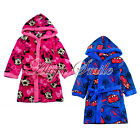 Cute Boys Girls Toddler Kids Cartoon Hooded Bathing Towel Bathrobe Sleepwear 4-8