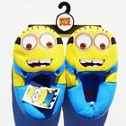 DESPICABLE ME 2 MINIONS Plush Step-In Slippers NWT Size 11/12, 13/1, 2/3 or 4/5