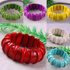 "Free Shipping Multi-color Turquoise Beads Stretch Bracelet 8"" 1Pcs LH555-1186"