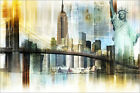 "Poster / Leinwandbild ""USA NYC New York Collage"" - Nettesart"