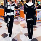Fashion Casual Womens Girls Tracksuit Hoodie Suit Coat Tops+Pants Trousers M-XXL