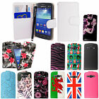 For Samsung Galaxy Ace 3 S7272 PU Leather Wallet Flip Case Cover+ Guard & Stylus