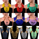 Fashion Handmade Resin Seed Beads Cluster Collar Choker Statement Bib Necklace