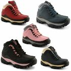 New Ladies Groundwork Steel Toe Cap Lace Up Safety Boots Trainers Size UK 3-8