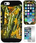 For iPhone 6 (4.7 inch) Hybrid Armor Hard Cover Case Oak Tree Branch Camo Black