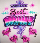 great female leaders of the world - Worlds Best Mom Personalized T-Shirt GREAT Gift Idea Airbrushed with Any Names