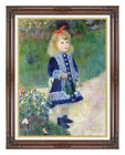 Framed Canvas Art Print Girl with a Watering Can by Pierre Auguste Renoir Repro