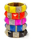 JUICY COUTURE Perfectly Gifted Pave Crystal Pyramid Stud Stretch Bracelet $68