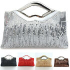 Fashion Ladies aluminum sequined clutch purse handbags dinner formal bags ZB0068