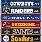 "Brand New All NFL Teams AVE Street Sign 24"" x 4"" Styrene Plastic Made in USA $9.92 USD on eBay"