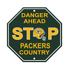 "New All NFL Teams Country Danger Ahead STOP Sign 12"" x 12"" Octagon Made in USA"