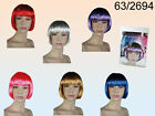 Short Hair Bob Wigs - Fancy Dress Costume Red Blonde Pink White Blue Purple Wig
