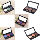 Pro 3 Color Matte Nude Makeup Eyeshadow Palette with Mirror + Double Ended Brush