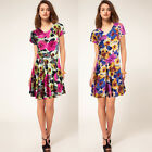 Clearance Sale Wholesale Bulk 9 Donna Bella Short Floral Wrap Over Day Tea Dress