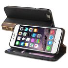 INSTEN Leather Book-Style Card Wallet Stand Case for Apple iPhone 6 4.7-inch