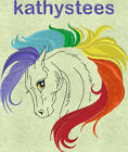 Rainbow Horse - Machine Embroidery Designs Set of 10 On CD