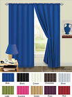 Plain Curtains Thermal Backed Light Reducing Curtains Ready Made 10 Colours