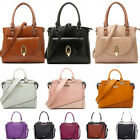 Women's Ladies Designer Leather Style Celebrity Tote Bag  Grab Tote Bag College