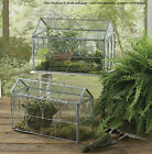 "Glass Terrariums by Park Designs, 14"" Wide, Pick Small or Large, Metal & Glass"