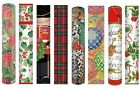 Caspari Christmas Fireplace Round Extra Long Match Boxes 50 x 28 cm matches