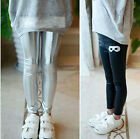 Children's Girls'Pants Fashion metal color stamping All-match glasses Leggings