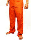 Orange Prisoner Convict Inmate Jail Scrub Halloween Costume Pants