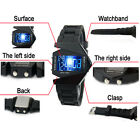 Mens Womens Watches LED Wrist Watch Day Date Plane Head Shape Silicone watches