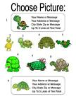 30 Cartoon Turtle Personalized Address Labels