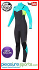 Rip Curl Women's Flash Bomb Wetsuit 4/3mm Chest Zip - Black/Turquoise