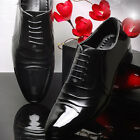 Excellent Leather Stylish Dress Lace Up Black Shoes