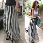 New Women Long Skirts Dress Irregular Stripes Full-length Maxi Lined Fashion