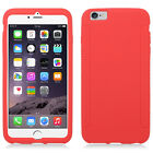 Apple iPhone 6 6S Plus Rubber SILICONE Soft Gel Skin Case Cover + Screen Guard