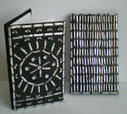 NEW LOVELY BLACK AND SILVER GLITTER NOTE BOOK 9089
