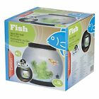 5 LITRE FISH BOWL WITH 2 LED LIGHTS LIFT OFF LID DESKTOP PINK BLACK BLUE