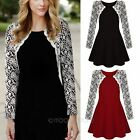 New Hot Women Lace Casual Evening Cocktail Party Long Sleeve Mini Short Dress