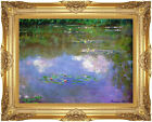 Framed Fine Art Canvas Print The Cloud Water Lilies Lily Pond Claude Monet Repro