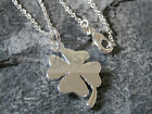SILVER NECKLACE 4 LEAF CLOVER PENDANT CHAIN CHARM JEWELLERY ACCESSORIES  WN002